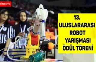 13. Uluslararası Robot Yarışması ödül töreni