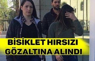 BİSİKLET HIRSIZI GÖZALTINA ALINDI