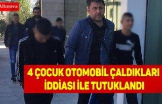 Samsun'da otomobil çaldıkları öne sürülen...