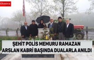 ŞEHİT POLİS MEMURU RAMAZAN ARSLAN KABRİ BAŞINDA...