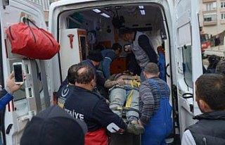 Sinop'ta elektrik akımına kapılan işçi yaralandı
