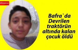 Bafra'da Kaza 1Ölü