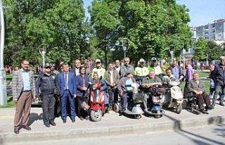 Bafra'da, yaya ve trafik kurallarını uygulama etkinliği