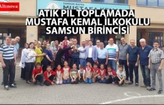ATIK PİL TOPLAMADA MUSTAFA KEMAL İLKOKULU SAMSUN...