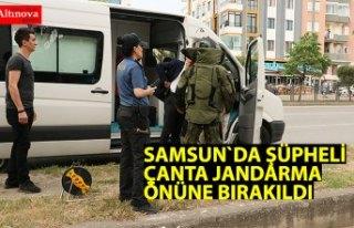 Jandarma önüne bırakılan şüpheli çanta fünyeyle...