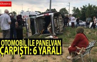 Otomobil ile panelvan çarpıştı: 6 yaralı