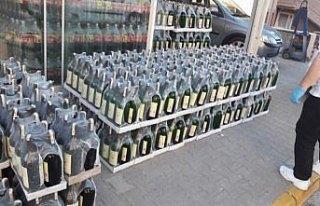 5 bin 170 şişe kaçak ve sahte alkollü içki ele...
