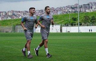Trabzonspor'da 7 futbolcuya özel antrenman