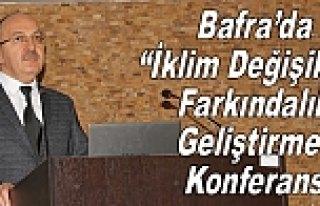 """Bafra'da """"İklim Değişikliği Farkındalık..."""