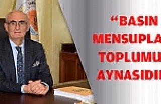 "BAŞKAN YILMAZ: ""BASIN MENSUPLARI TOPLUMUN AYNASIDIR"""