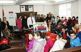 İlkokul öğrencilerinden yardım kampanyası