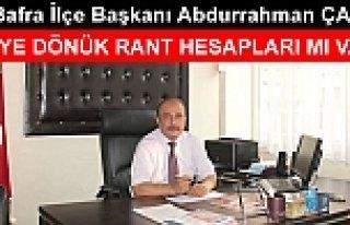 MHP Bafra İlçe Başkanı Abdurrahman ÇAMAŞ: İLERİYE...