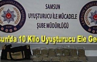 Samsun'da 10 Kilo Uyuşturucu Ele Geçirildi