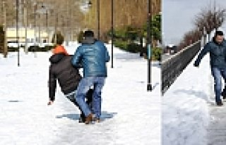 Samsun'da 2 günde 240 kişi karda düşerek yaralandı