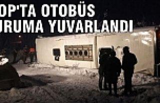 Sinop'ta yolcu otobüsü uçuruma yuvarlandı 3 ölü,...