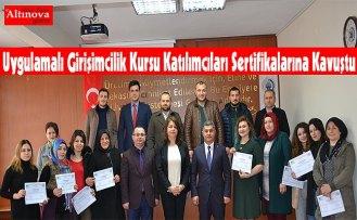 Uygulamalı Girişimcilik Kursu Katılımcıları Sertifikalarına Kavuştu