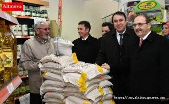 Başkan Zihni Şahin, Tanzim Satış Noktası'nda ;  'Halkımızı kimse mağdur edemez'
