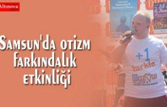 Samsun'da otizm farkındalık etkinliği