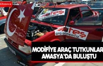 Modifiye araç tutkunları Amasya'da buluştu
