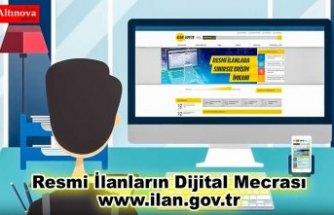 Resmi İlanların Dijital Mecrası www.ilan.gov.tr