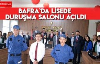 Bafra`da Lisede Duruşma Salonu açıldı