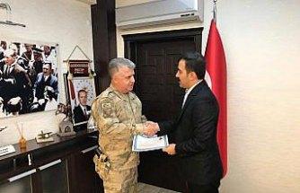 Kavak'ta jandarma personeline başarı belgesi
