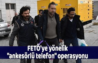 """FETÖ'ye yönelik """"ankesörlü telefon"""" operasyonu"""