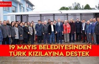 19 Mayıs Belediyesinden Türk Kızılayına destek