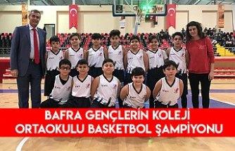 Bafra gençlerin koleji ortaokulu basketbol şampiyonu