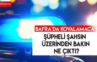 BAFRA`DA ŞÜPHELİ VE POLİS KOVALAMACASI