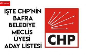 İşte CHP'nin Bafra Belediye Meclis üyesi aday listesi