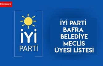İYİ Parti Bafra Belediye Meclis Üyesi listesi