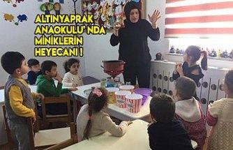 ALTINYAPRAK ANAOKULU' NDA MİNİKLERİN MISIR PATLATMA HEYECANI !