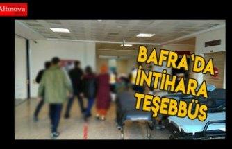 Bafra`da intihara teşebbüs