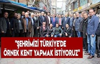 """""""Şehrimizi Türkiye'de örnek kent yapmak istiyoruz"""""""
