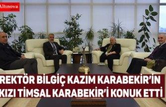 Rektör Bilgiç Kazım Karabekir'in Kızı Timsal Karabekir'i Konuk Etti