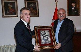 Trabzonspor yönetiminden Belediye Başkanı Zorluoğlu'na ziyaret