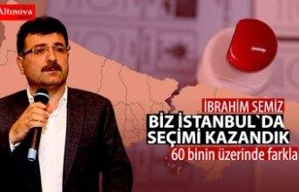 İbrahim Semiz, Biz İstanbul'da seçimi kazandık!