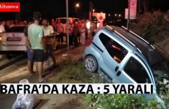Bafra'da kaza : 5 yaralı