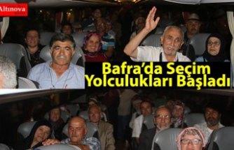 Bafra'da Seçim Yolculukları Başladı