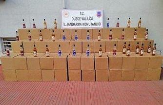 Düzce'de kaçak içki operasyonu