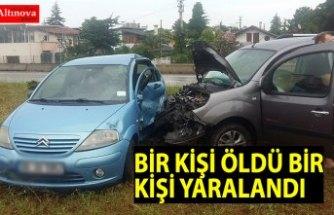 Hafif ticari araçla otomobil çarpıştı: 1 ölü, 1 yaralı