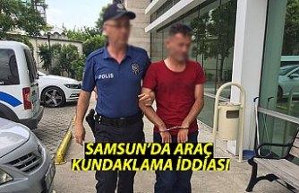 Samsun'da araç kundaklama iddiası