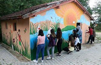 Köy okullarını 22 yıldır resimle güzelleştiriyorlar