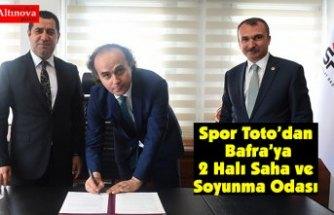 Spor Toto'dan Bafra'ya 2 Halı Saha ve Soyunma Odası