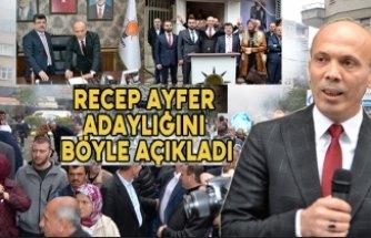 Ak Parti Bafra Belediye Başkanı A. Adayı Recep Ayfer