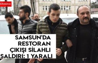 Samsun'da restoran çıkışı silahlı saldırı: 1 yaralı