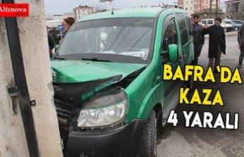 Bafra`da kaza : 4 yaralı