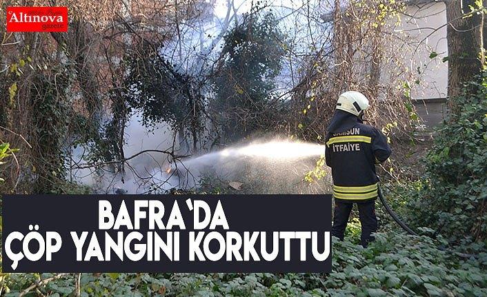 Bafra`da çöp yangını korkuttu