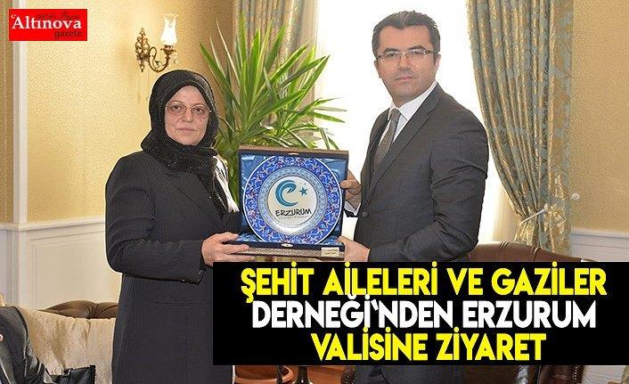 Şehit Aileleri ve Gaziler Derneği`nden Erzurum Valisine ziyaret